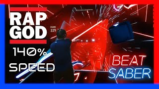 140% speed Eminem - Rap God done faster! Beat Saber Darth Maul style