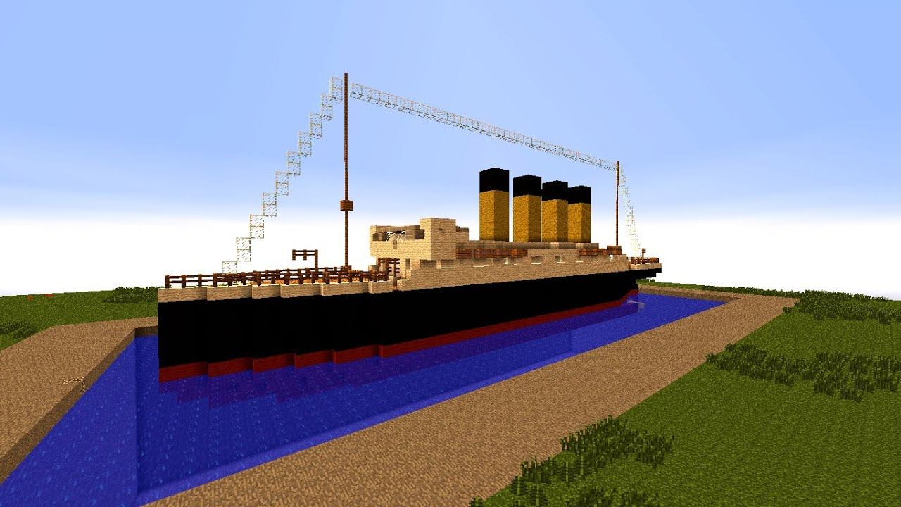 How To Build A Small Titanic In Minecraft