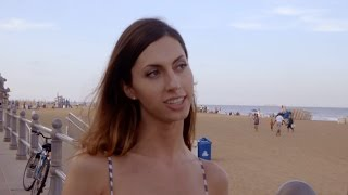 Claire looks for guys on the beach - Young, Trans and Looking for Love: Preview - BBC Three