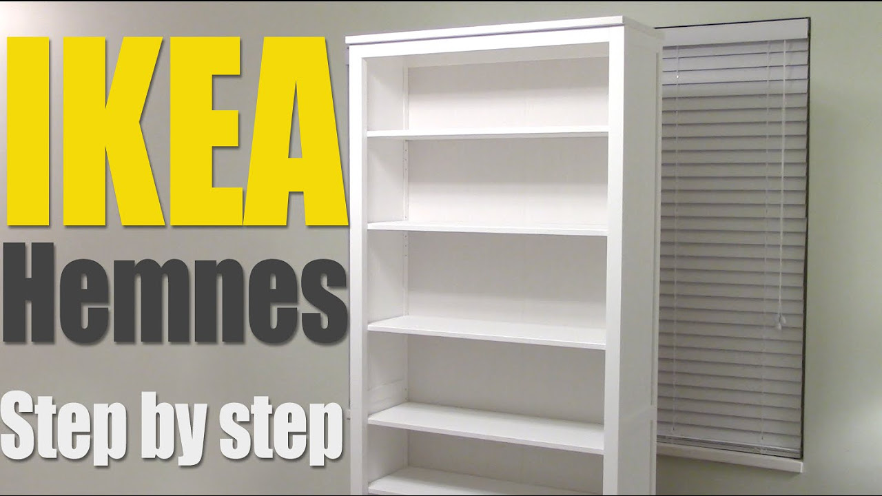 IKEA Hemnes Bookshelf - step by step how to assemble 002.456.44 bookcase