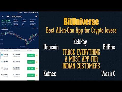 BitUniverse App The Best ZebPay Koinex Unocoin Crypto Portfolio Tracker Review & Tutorial in HINDI.