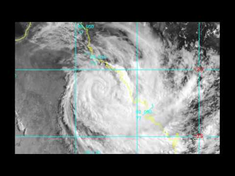 CYCLONE DEBBIE - Current Position @ 9:35 A.M. Brisbane Time Zone