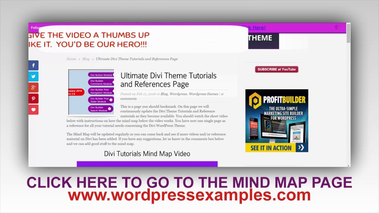 Divi Tutorials References and Mind Map - Divi WordPress Theme ...