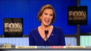 Fiorina takes jab at Hillary Clinton