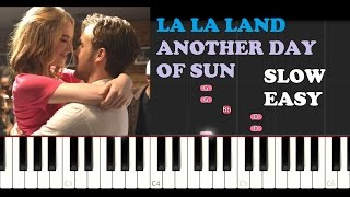 La La Land - Another Day Of Sun (SLOW EASY PIANO TUTORIAL)