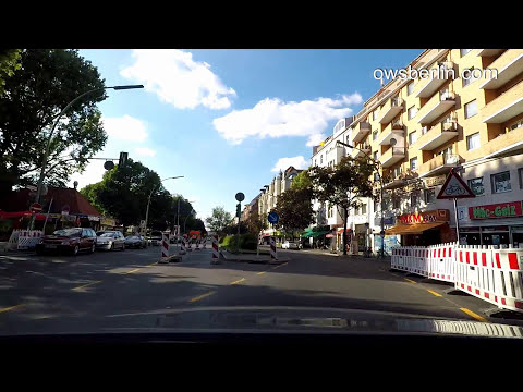 Driving in Berlin from Buckow to Mitte 2017. Авто прогулка по Берлину.