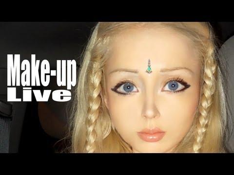 make-up doll メークアップドール Valeria Lukyanova | Doovi