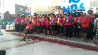 GMM-IEQ Vasco da Gama participando da festa de aniversário do grupo de oração da manhã da IEQ Vasco
