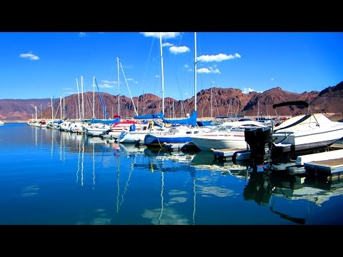 Lake Mead Nevada - marina & beach video