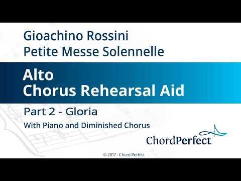 Rossini's Petite Messe Solennelle Part 2 - Gloria - Alto Chorus Rehearsal Aid
