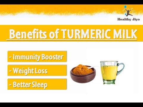 BENEFITS OF TURMERIC MILK - GOLDEN MILK BENEFITS - TURMERIC MILK for WEIGHT  LOSS