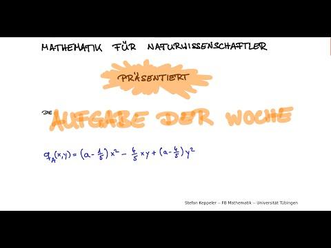 Aufgabe der Woche - Definitheit & Kegelschnitte from YouTube · Duration:  34 minutes 2 seconds