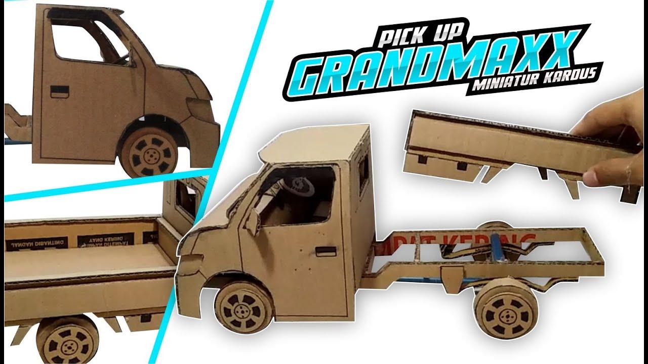 Membuat Miniatur Pick Up Grandmax Full Kardus Handmade Youtube