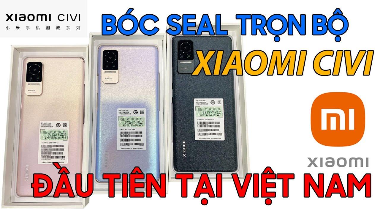 Bóc Seal Nguyên bộ 3 màu Xiaomi Civi đầu tiên tại Việt Nam