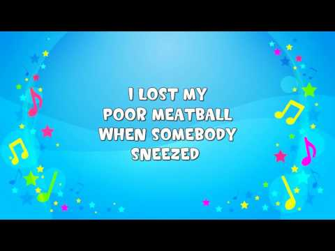 On Top of Spaghetti | Sing A Long | Silly Song | Nursery Rhyme | KiddieOK