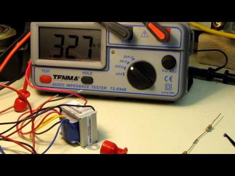 Using 70 volt audio transformers for impedance matching tube