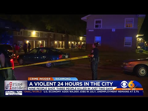 3 Killed, 9 Shot In 48 Hours In Richmond