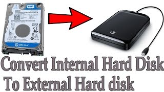 how to convert any  internal hard disk to external hard disk  in hindi/urdu