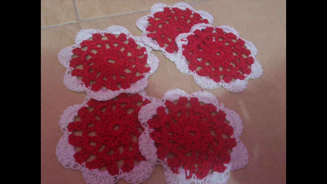 Crochet Christmas Coasters Youtube