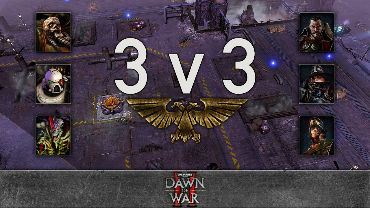 Dawn of War 2 - 3v3 | Alex + MammothMKII + Cry  [vs] Farnir + Rambo + The Black Cardinal