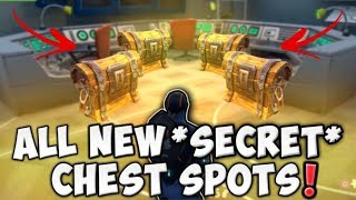 ALL NEW *SECRET CHEST SPOTS* IN NEW MAP UPDATE!! DUSTY DIVOT & MORE!! (Fortnite Battle Royale)
