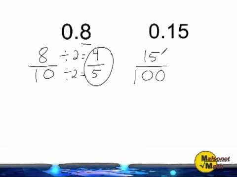 simplest form 0.8  Converting Decimals Into Fractions