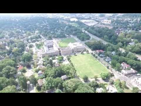 Pelham, New York  Corlies Avenue  Aerial View from Drone