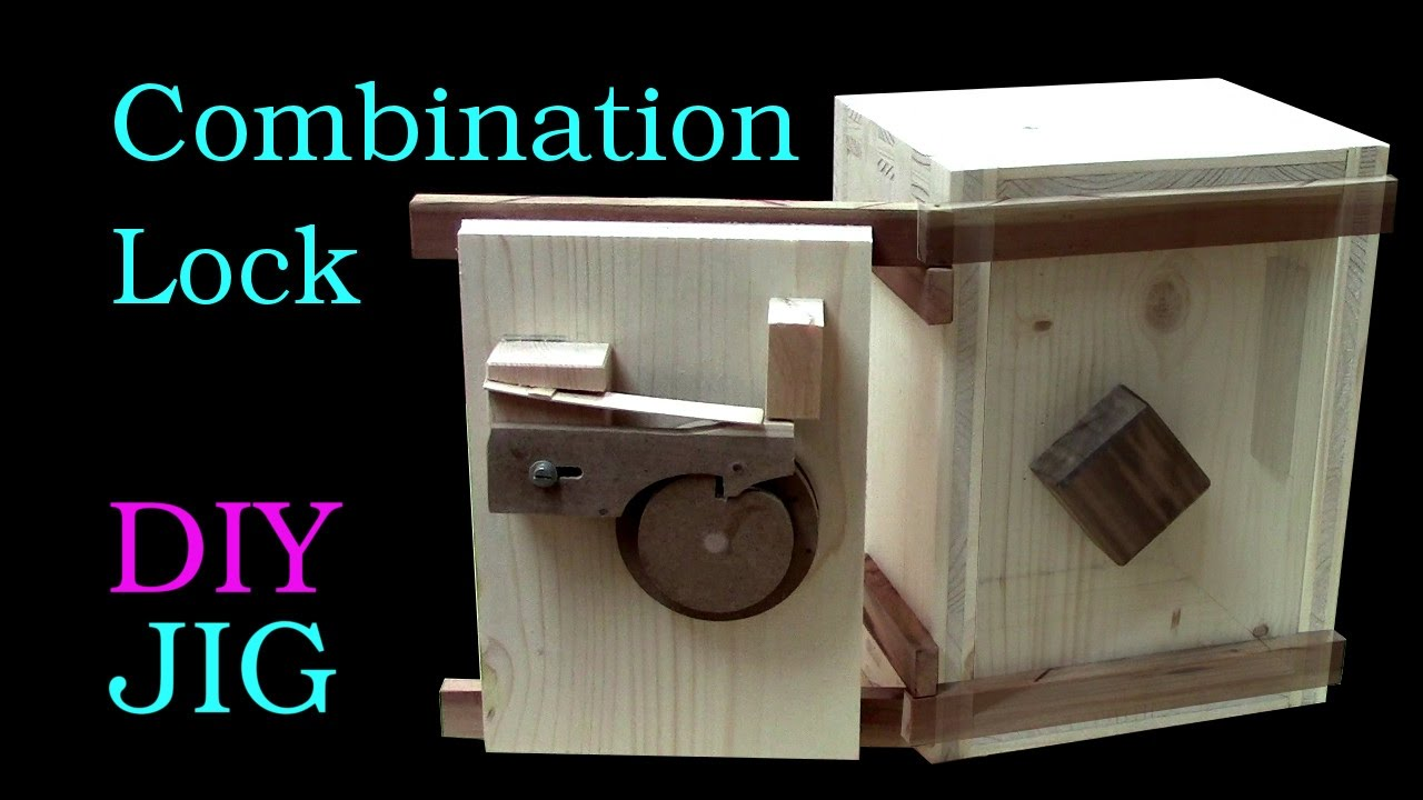 How To Make A Wooden Combination Lock Youtube