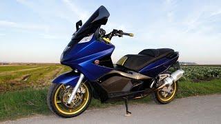 Gilera GP 800 special blue & gold - malossi - bmc - ngk iridium - pulley - arrow - full HD 1080p