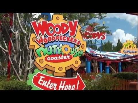Woody Woodpecker's Nuthouse Coaster at Universal Studios