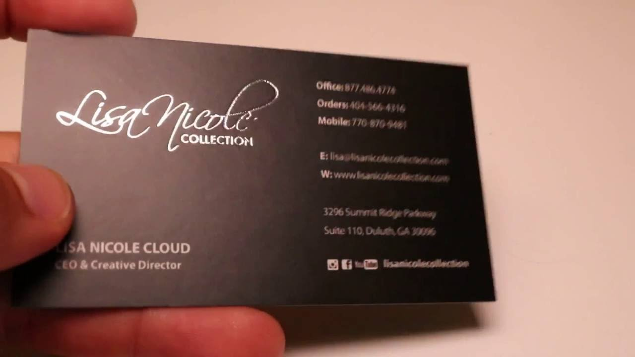 Foil stamped business cards youtube foil stamped business cards colourmoves