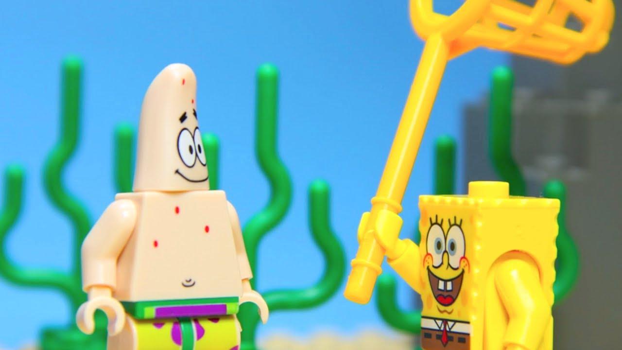 lego spongebob squarepants jelly fishing with patrick youtube