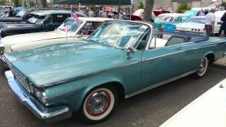 1964 LIGHT BLUE CHRYSLER NEWPORT CONVERTIBLE FIREBOLT 265 ENGINE