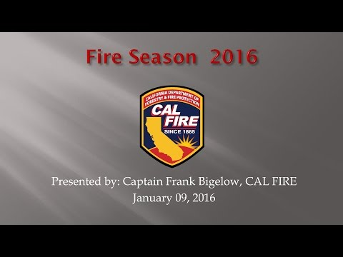 CAL FIRE on 2015 Fire Season, California Drought and Western Pine Beetle in Mariposa County