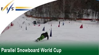 Parallel Snowboarding world cup Training in Moscow