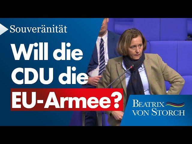 Beatrix von Storch (AfD) - Frage an AKK: Will die CDU die EU-Armee?
