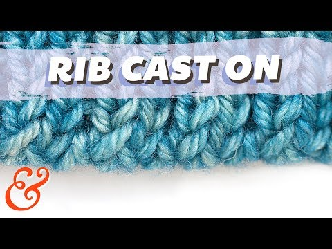 Alternating Cable Cast On for Perfect Ribbing