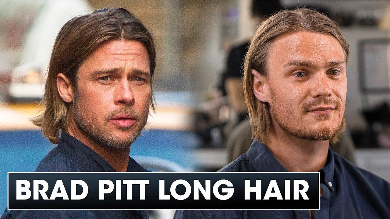 Brad Pitt Long Hairstyle Tutorial - World War Z Inspiration