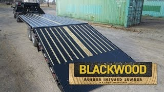 Blackwood Rubber Infused Lumber - PJ Trailers