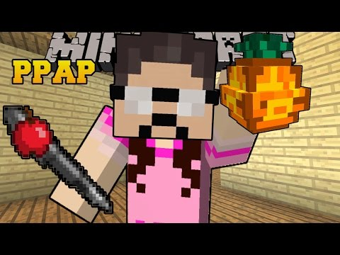 Thumbnail: Minecraft: PPAP MOD (PEN PINEAPPLE APPLE PEN!) Mod Showcase