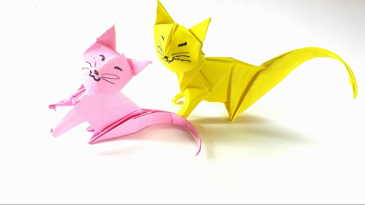 Origami tutorial how to fold an easy origami neko cat youtube origami tutorial how to fold an easy origami neko cat jeuxipadfo Choice Image