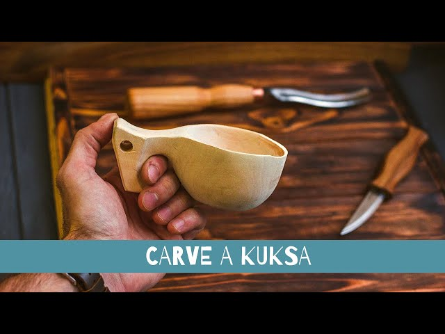 Kuksa Carving Tutorial I Easy Wood Carving for Beginners