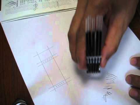 5-line music staff liner pen (trial)