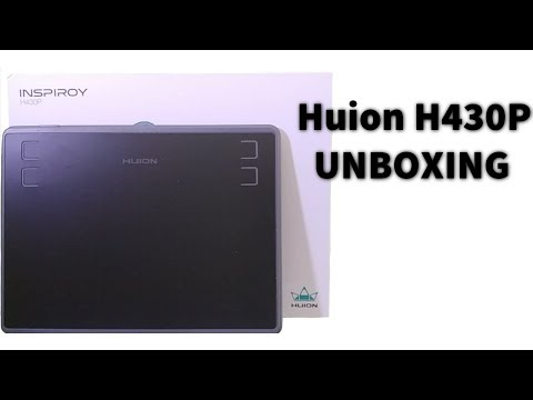 Huion h430P UNBOXING - YouTube