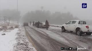 شاهد.. الأمطار والثلوج في الأردن - (9/1/2020)