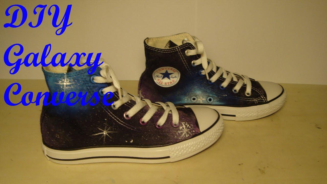 9b73aab6d816 DIY Galaxy Converse - YouTube