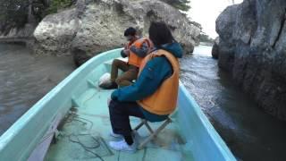 本日は、暴風警報の中の櫓漕ぎ体験 でも安心です松島湾には、こんな時で...
