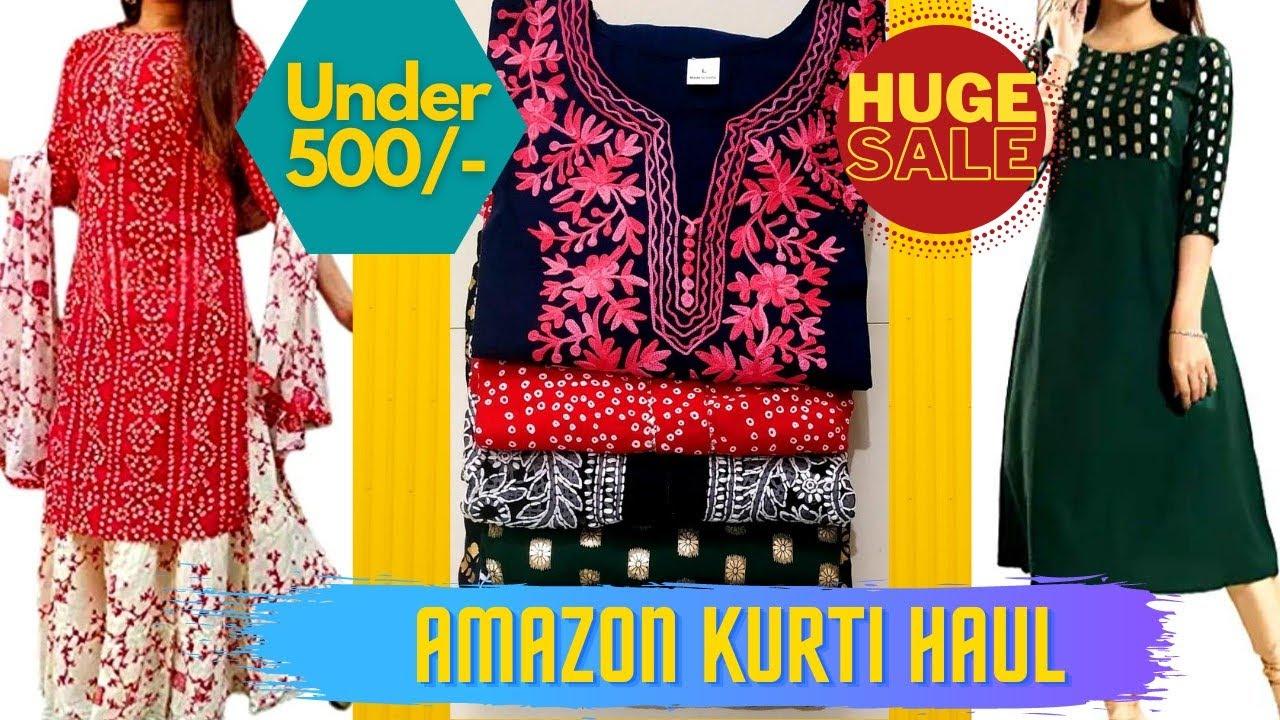 Amazon Prime Day Sale|Kurtis|Affordable Kurtis|Kurtis Under 500/- Online Shopping Review With kinjal