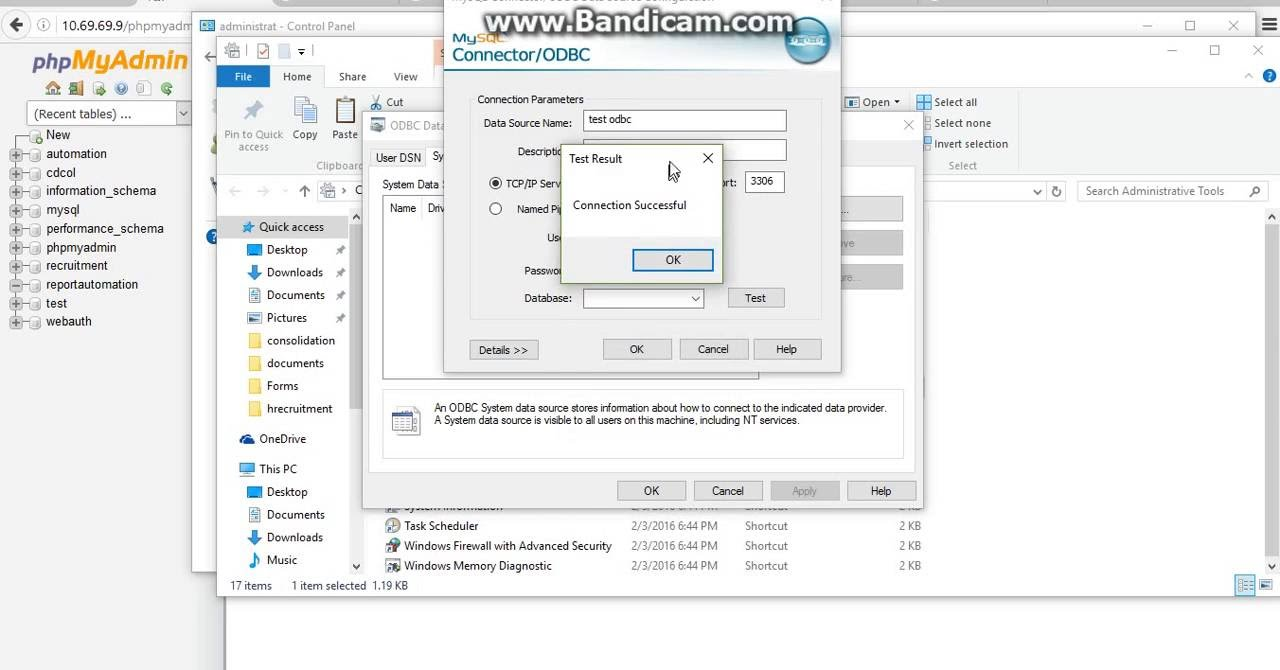 CONNECT ODBC TO MYSQL TUTORIAL - YouTube