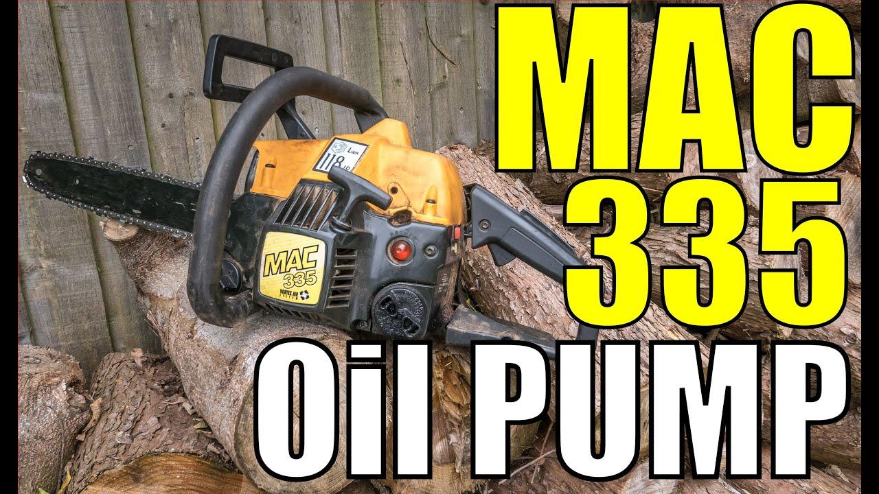 Mac 335 McCulloch Chainsaw Oil Pump Servicing